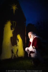 SantaKneelingPainting-1